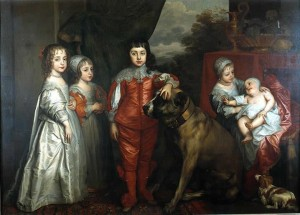 Children of Charles I by Sir Anthony van Dyck (1637)